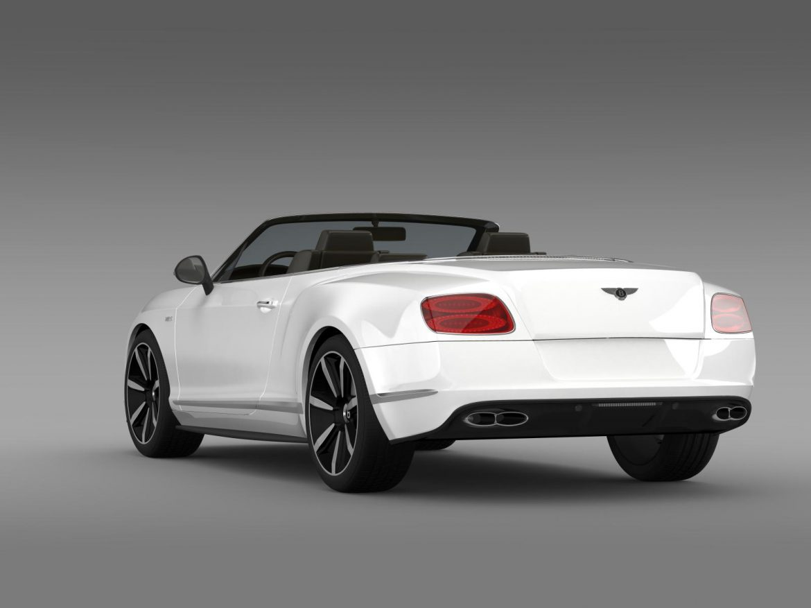 bentley continental gt v8 s convertible 2014 3d model 3ds max fbx c4d lwo ma mb hrc xsi obj 164041