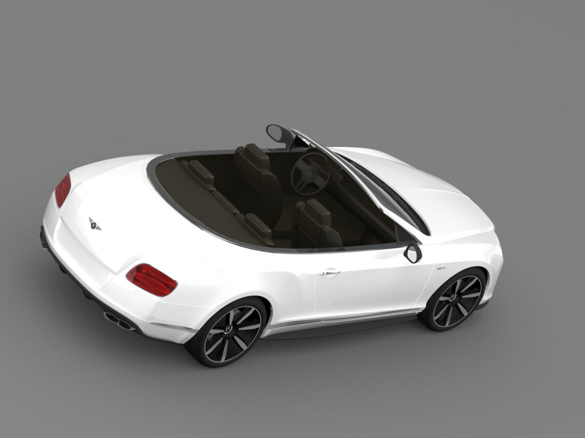 bentley continental gt v8 s convertible 2014 3d model 3ds max fbx c4d lwo ma mb hrc xsi obj 164043