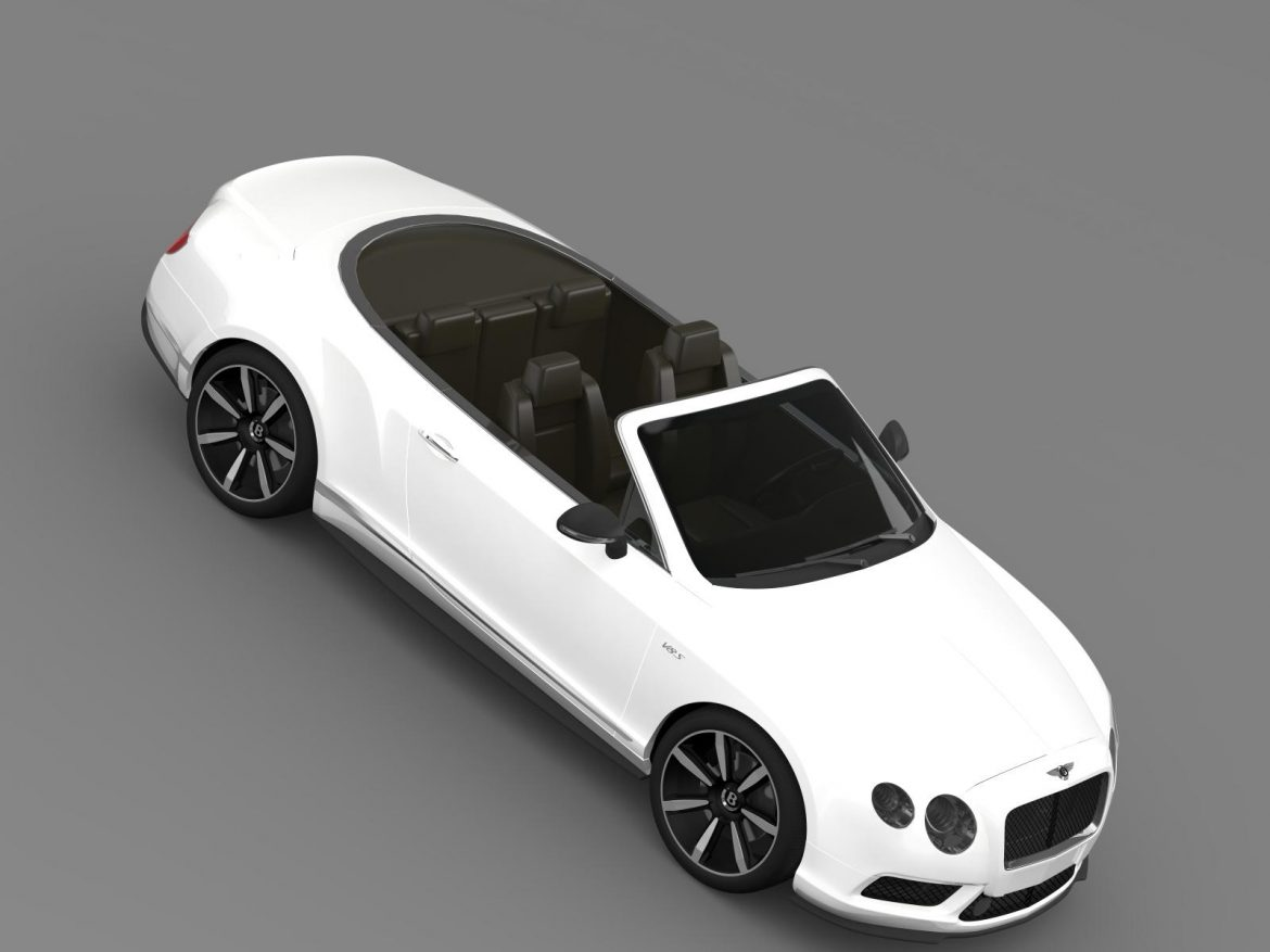 bentley continental gt v8 s convertible 2014 3d model 3ds max fbx c4d lwo ma mb hrc xsi obj 164045