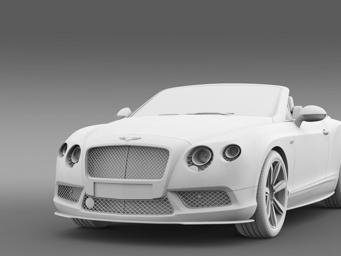 bentley continental gt v8 s convertible 2014 3d model 3ds max fbx c4d lwo ma mb hrc xsi obj 164048
