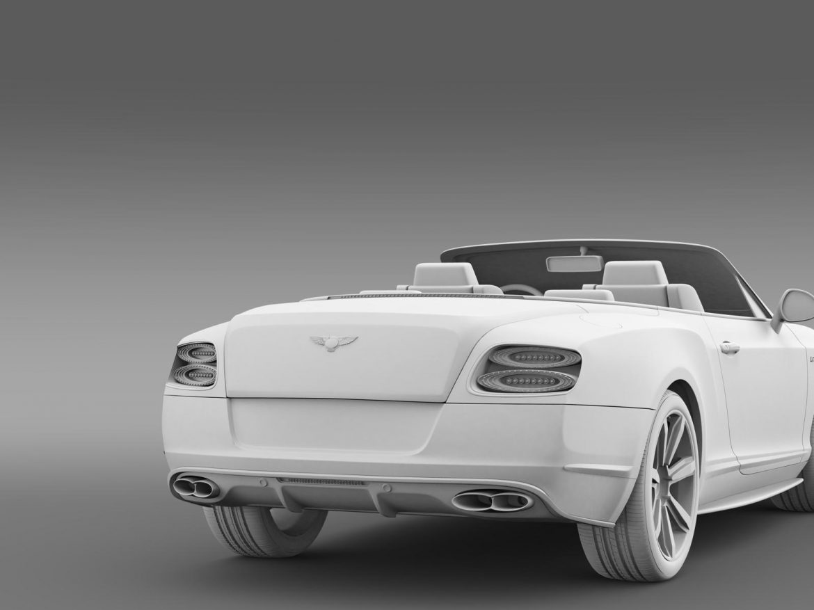 bentley continental gt v8 s convertible 2014 3d model 3ds max fbx c4d lwo ma mb hrc xsi obj 164049