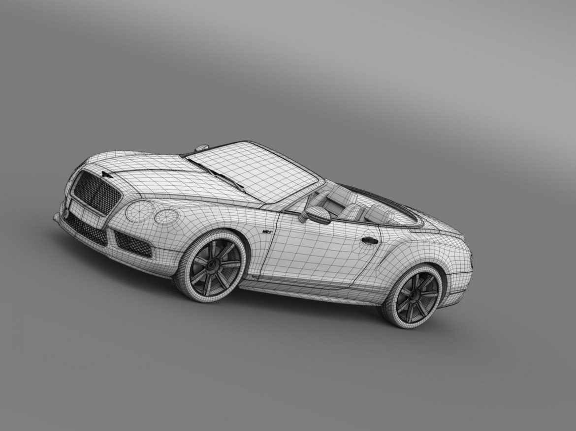 bentley continental gt v8 s convertible 2014 3d model 3ds max fbx c4d lwo ma mb hrc xsi obj 164050