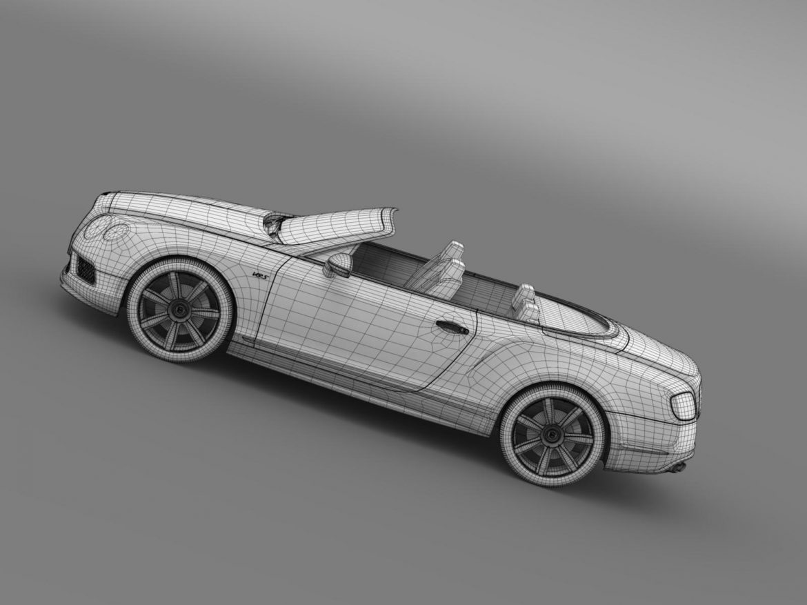 bentley continental gt v8 s convertible 2014 3d model 3ds max fbx c4d lwo ma mb hrc xsi obj 164051