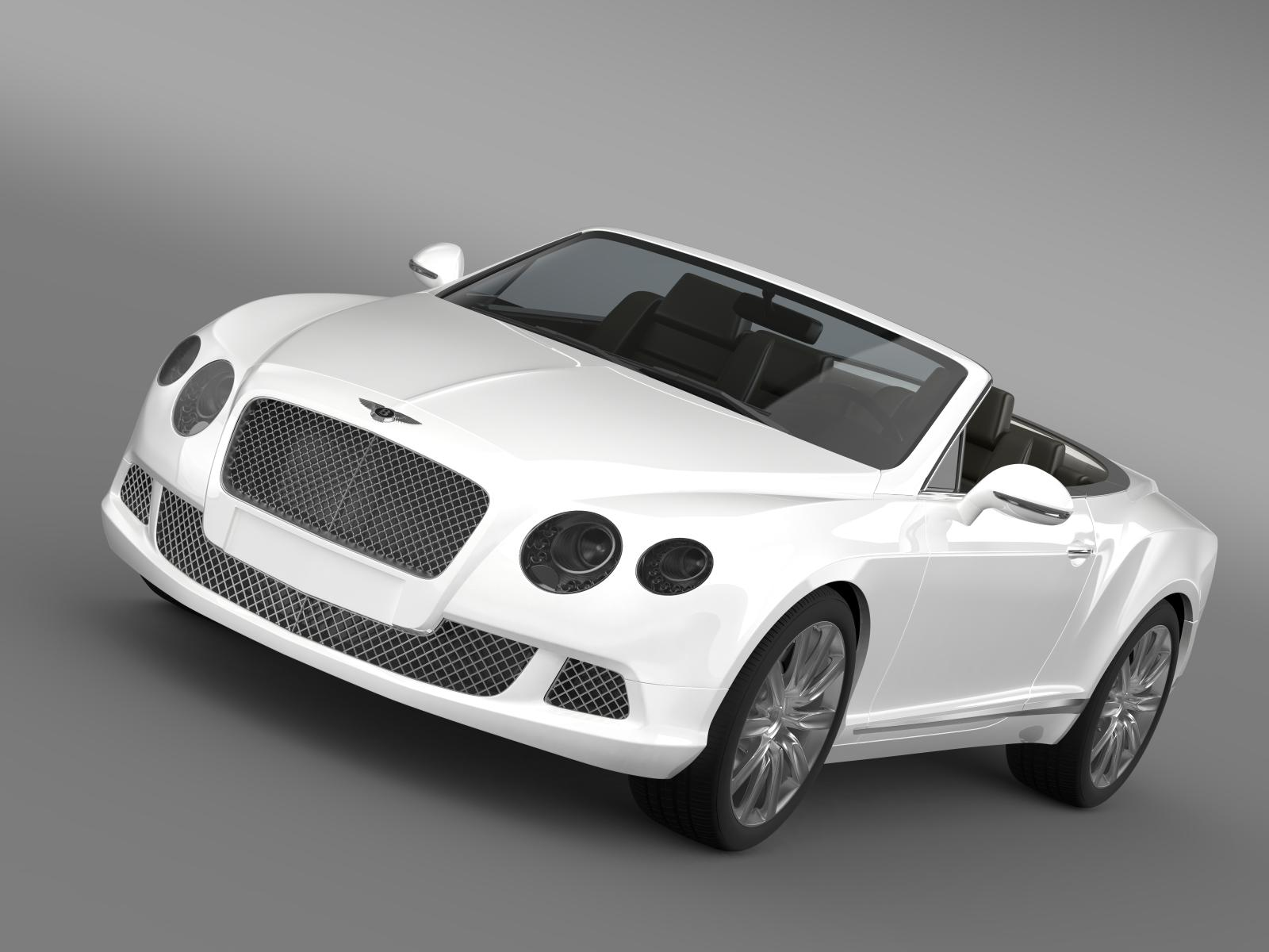 bentley continental gtc 2011 3d model 3ds max fbx c4d lwo ma mb hrc xsi obj 163884