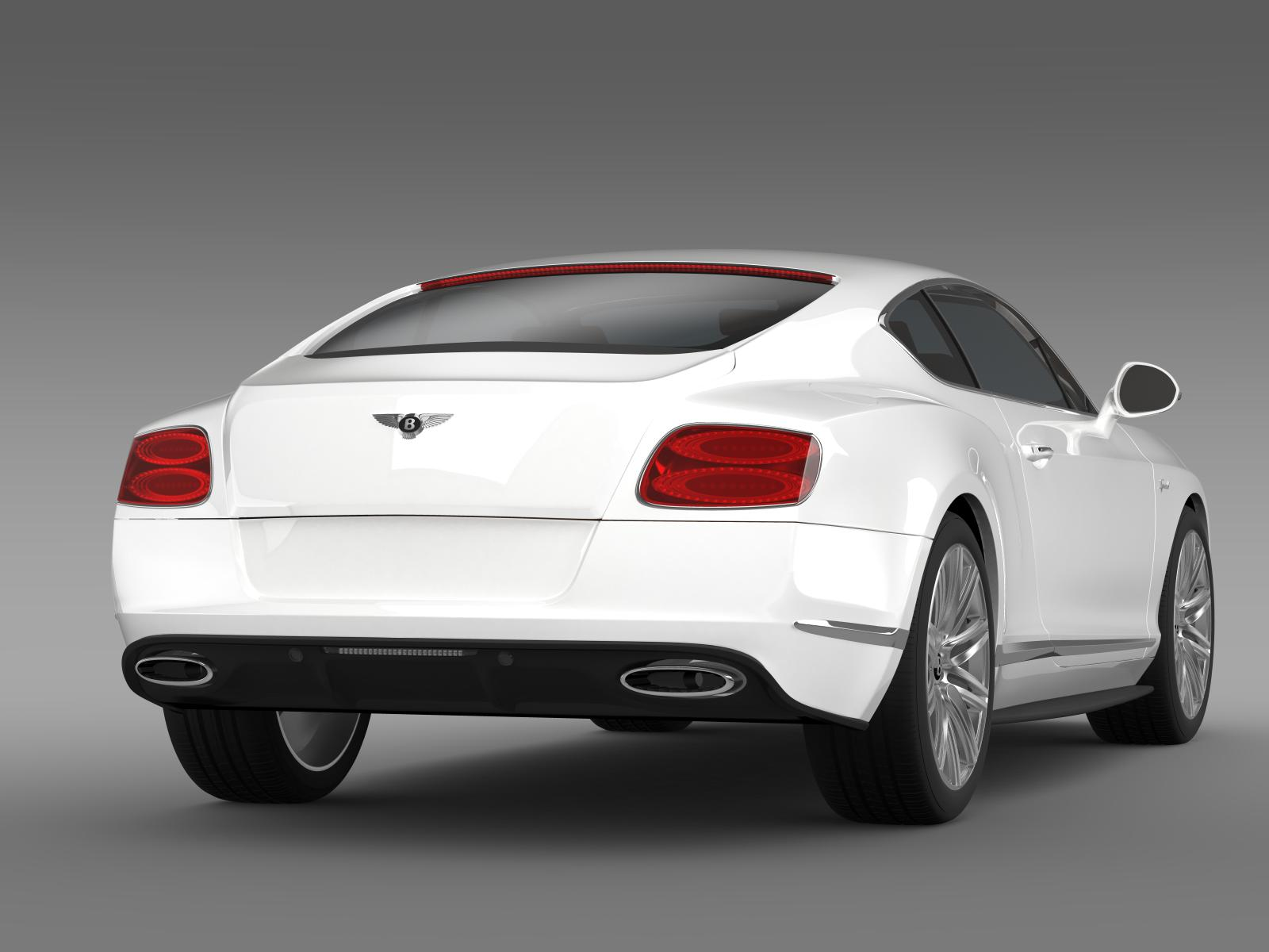 Bentley Continental Gt Speed 2014 3d Model Buy Bentley