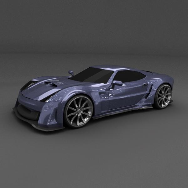plava utrka konceptni automobil 3d model 3ds spoj dae lwo obj 160687