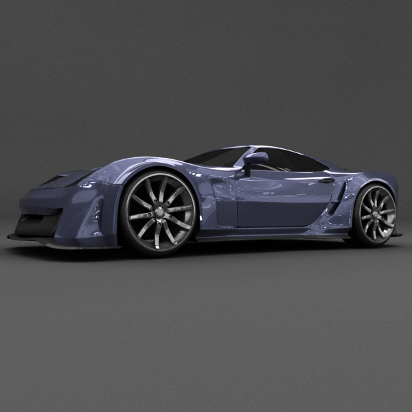 blue racing concept car 3d model 3ds blend dae lwo obj 160691