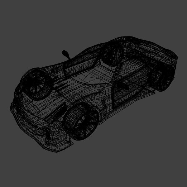 blue racing concept car 3d model 3ds blend dae lwo obj 160695