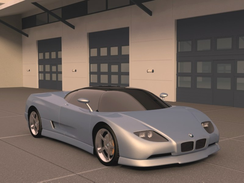 bmw nazca m12 3d model 3ds max 128441