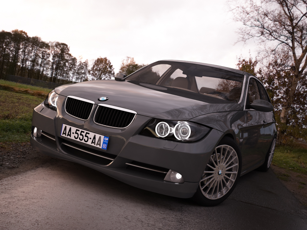 bmw series 3 tuning 3d model 3ds max png texture obj 128368