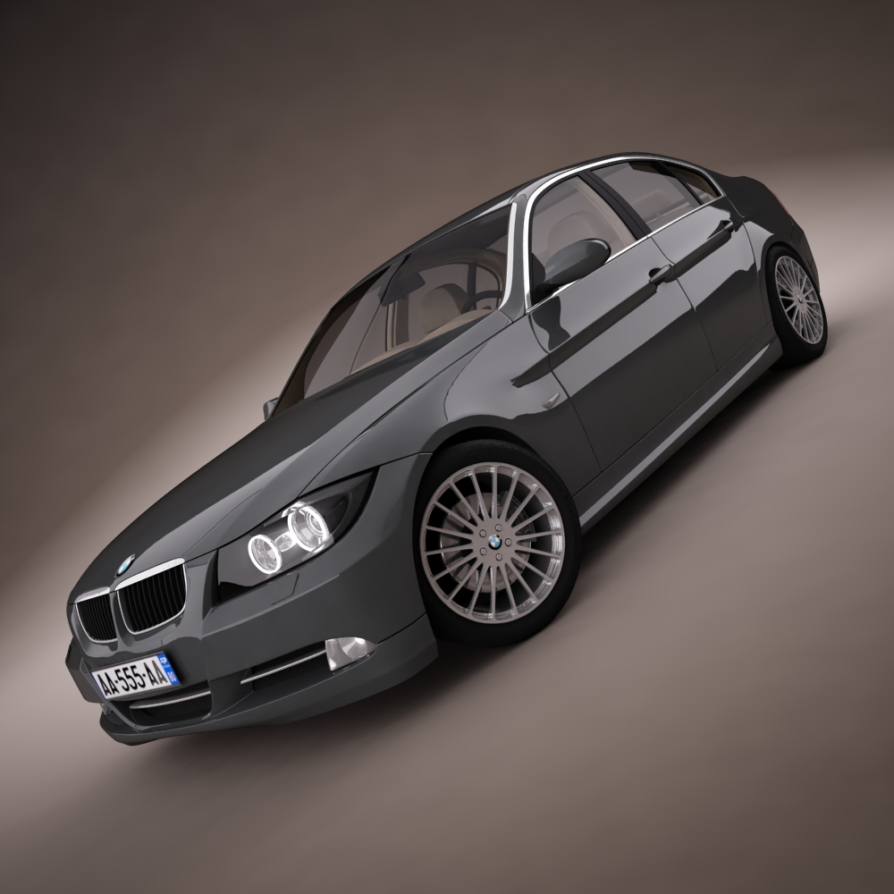 bmw series 3 tuning 3d model 3ds max png texture obj 128369