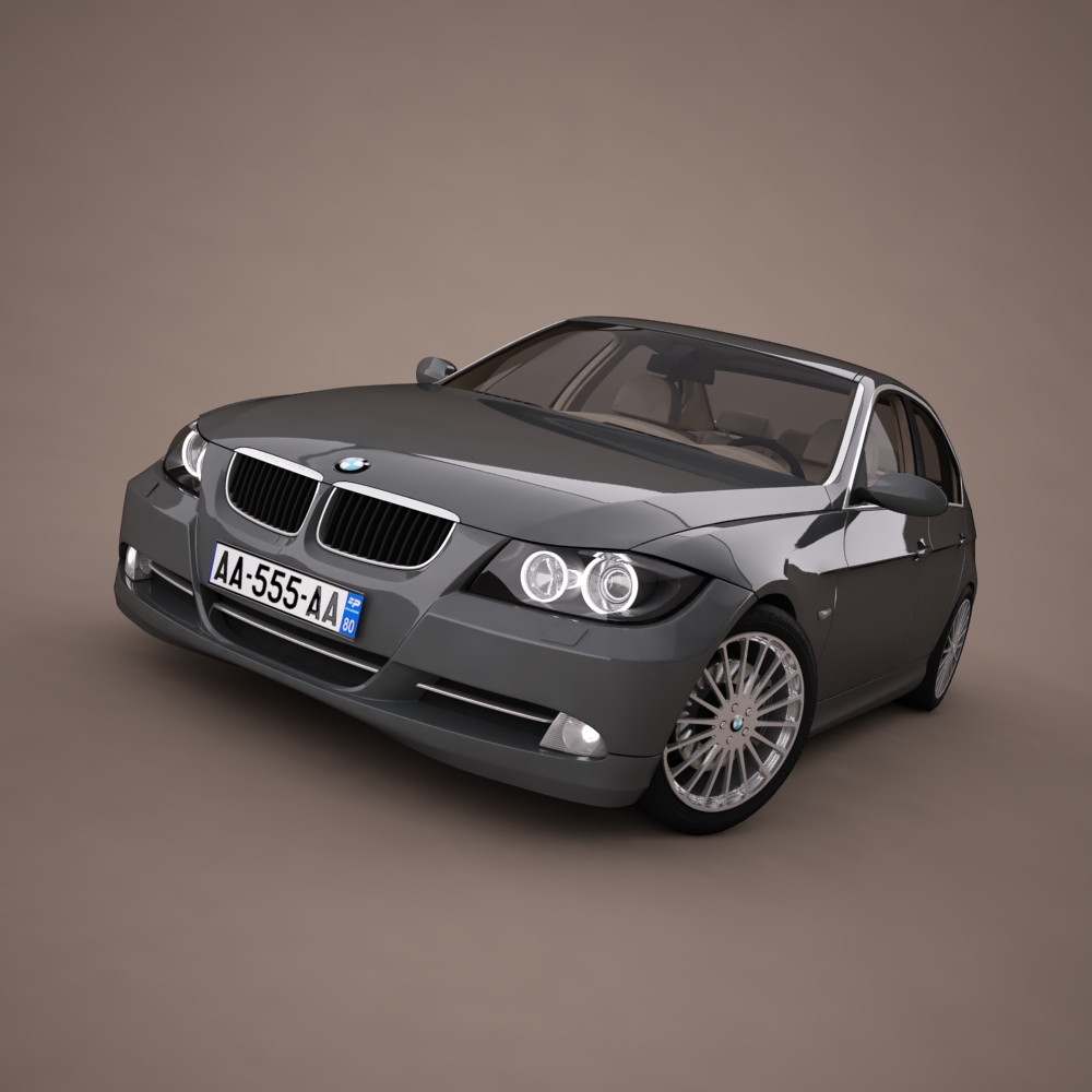 bmw series 3 tuning 3d model 3ds max png texture obj 128371