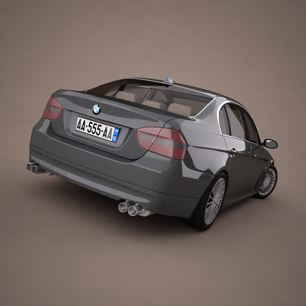 bmw series 3 tuning 3d model 3ds max png texture obj 128372