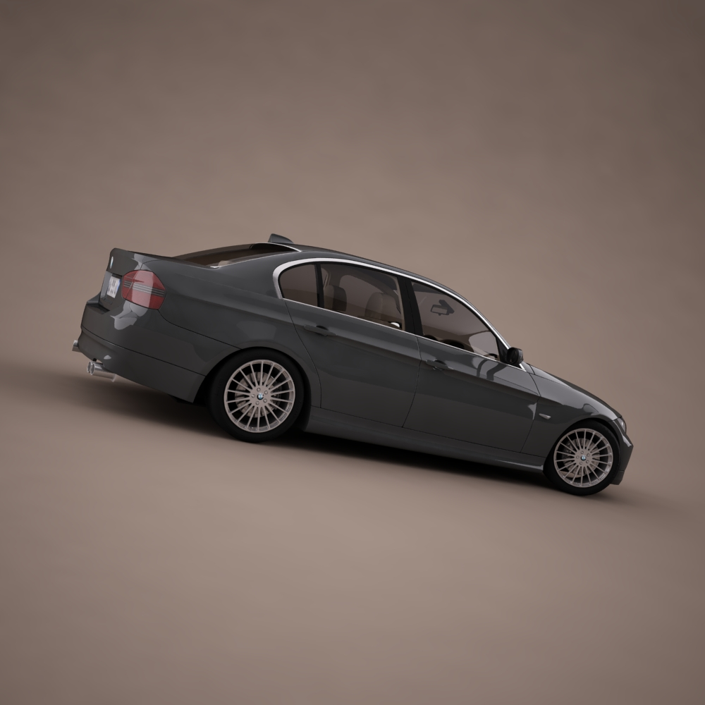 bmw series 3 tuning 3d model 3ds max png texture obj 128374
