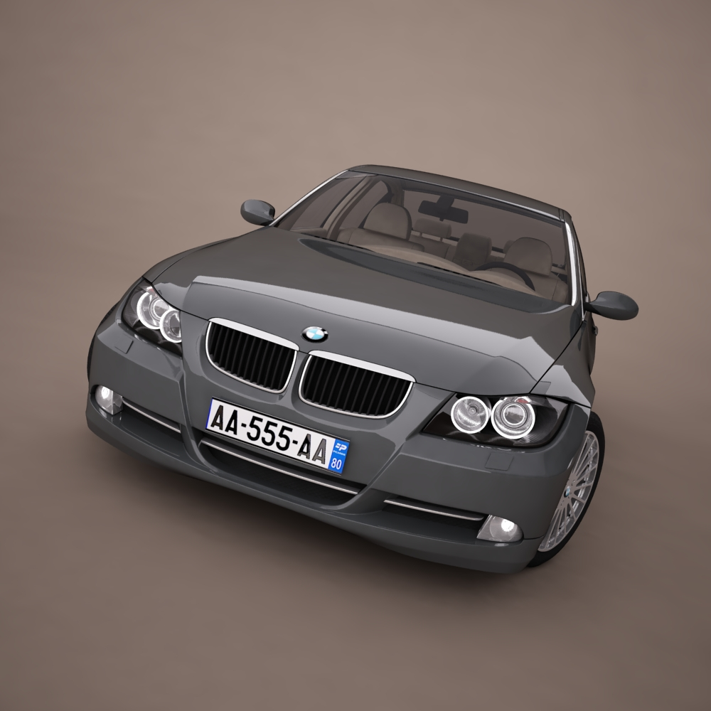 bmw series 3 tuning 3d model 3ds max png texture obj 128375
