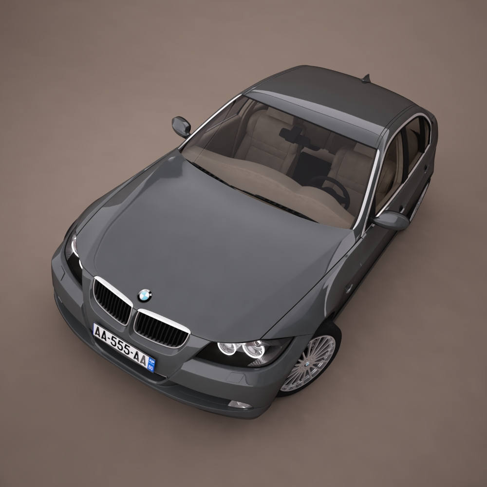 bmw series 3 tuning 3d model 3ds max png texture obj 128377