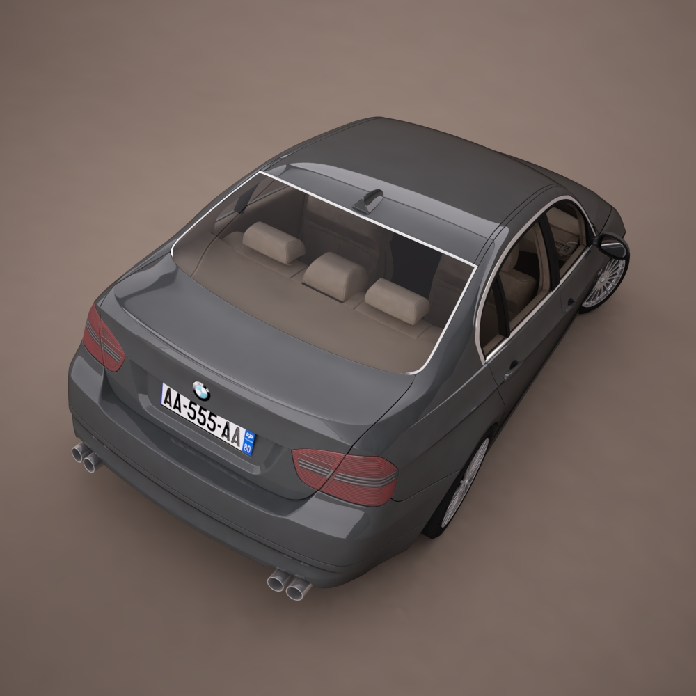 bmw series 3 tuning 3d model 3ds max png texture obj 128378