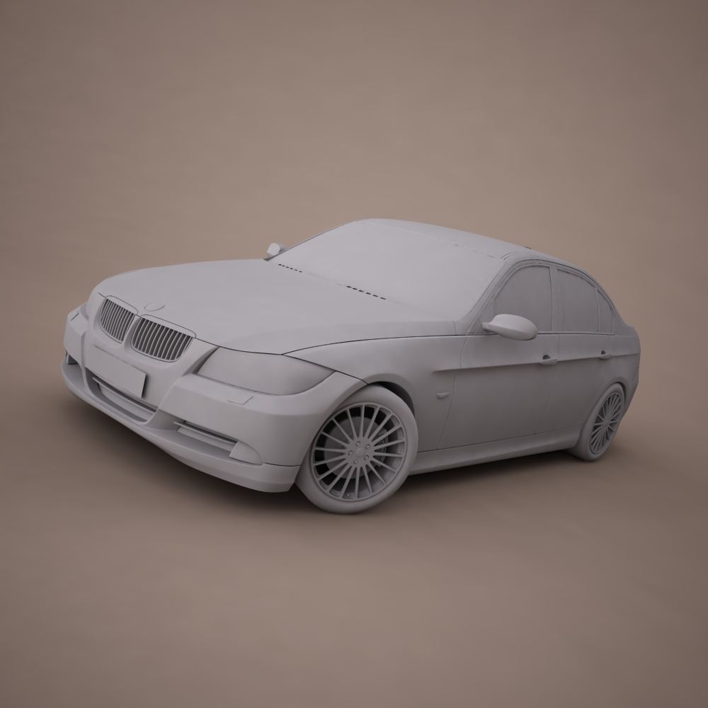 bmw series 3 tuning 3d model 3ds max png texture obj 128379