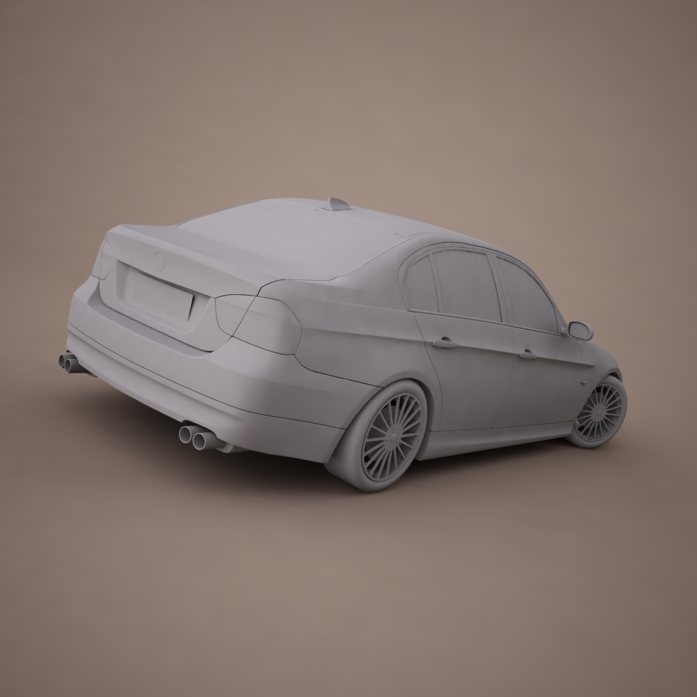 bmw series 3 tuning 3d model 3ds max png texture obj 128381