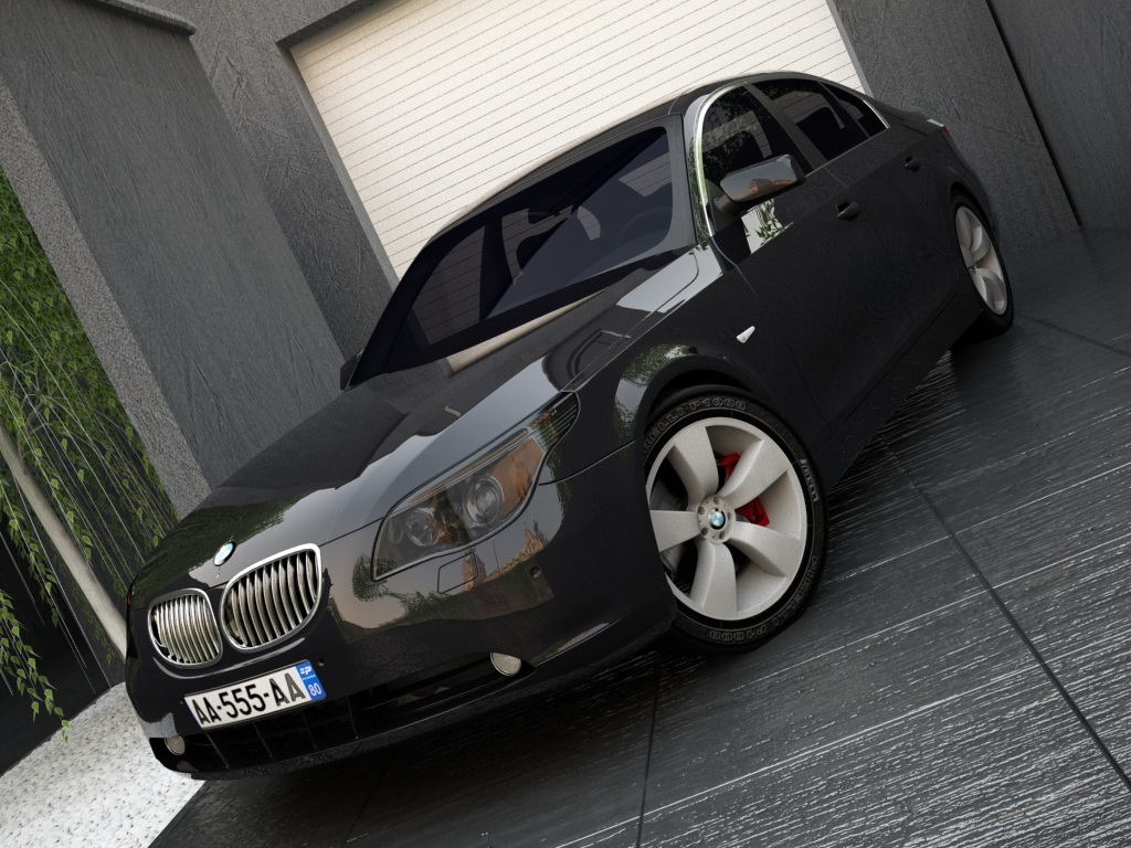 bmw series 5 3d model 3ds max obj 119313
