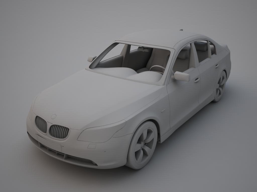 bmw sērija 5 3d modelis 3ds max obj 119321