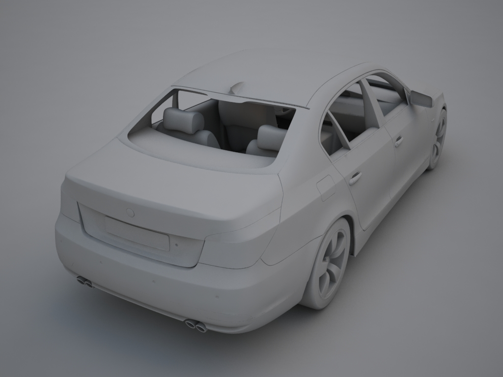 bmw sērija 5 3d modelis 3ds max obj 119323