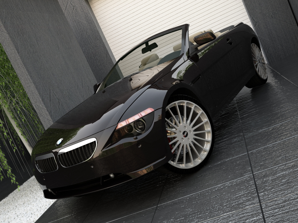 bmw series 6 cabrio 3d model 3ds max inne obj 119392