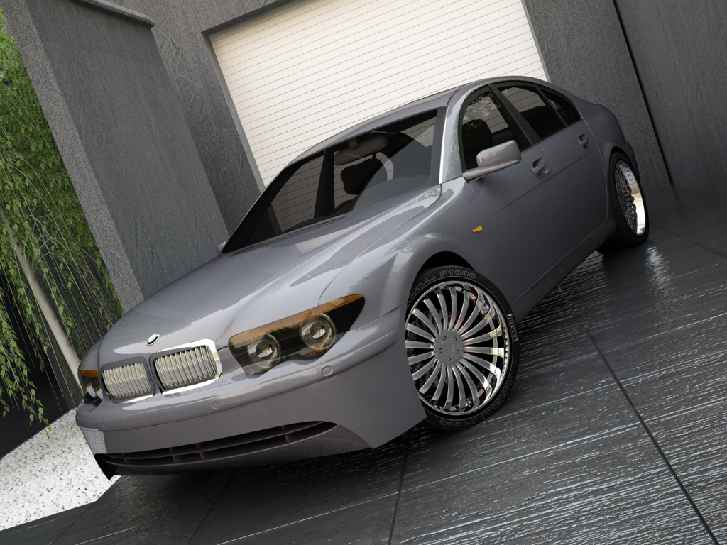 bmw series 7 3d model max texture obj 119560