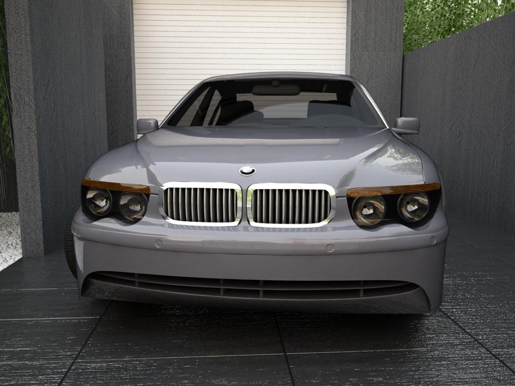 bmw series 7 3d model max texture obj 119563