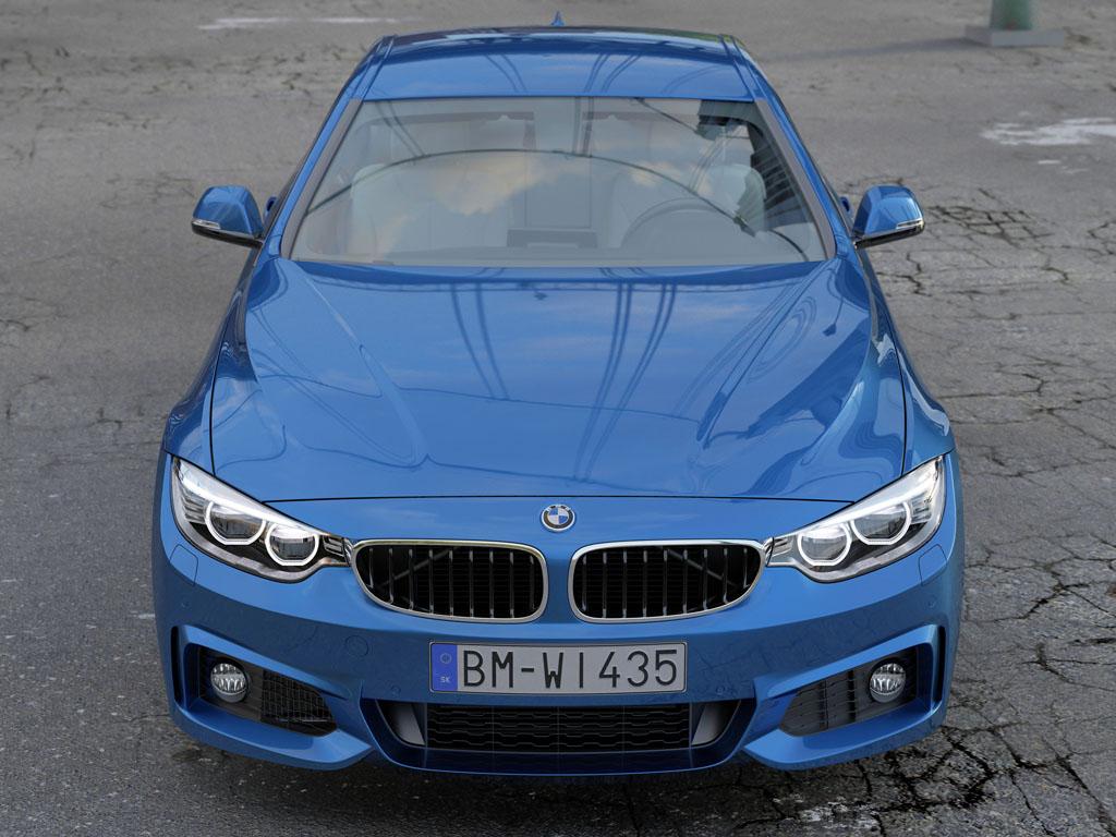 BMW 4 Series Coupe M Sport 2014 3d model 3ds max fbx c4d obj