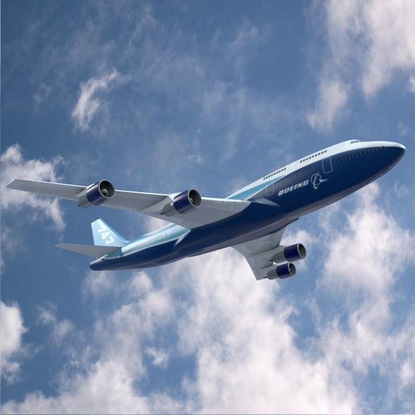 boeing 747-300 airliner 3d model 3ds fbx blend lwo obj 148768