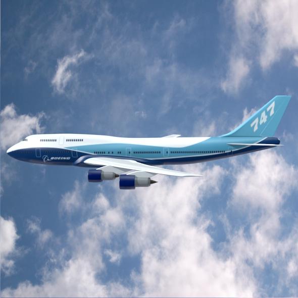 boeing aerlíne 747-300 múnla 3d 3ds fbx blend lwo obj 148771
