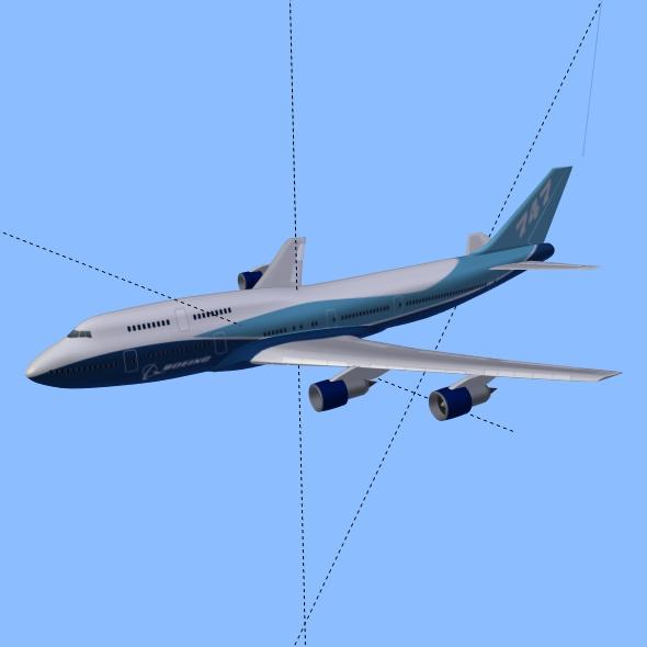 boeing aerlíne 747-300 múnla 3d 3ds fbx blend lwo obj 148772