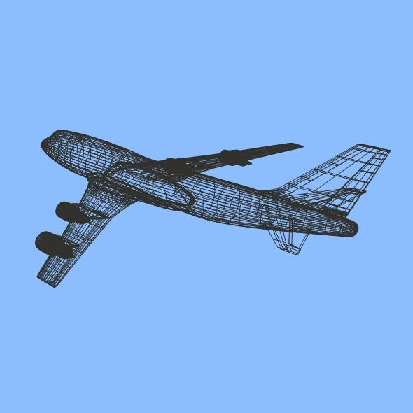 boeing aerlíne 747-300 múnla 3d 3ds fbx blend lwo obj 148773