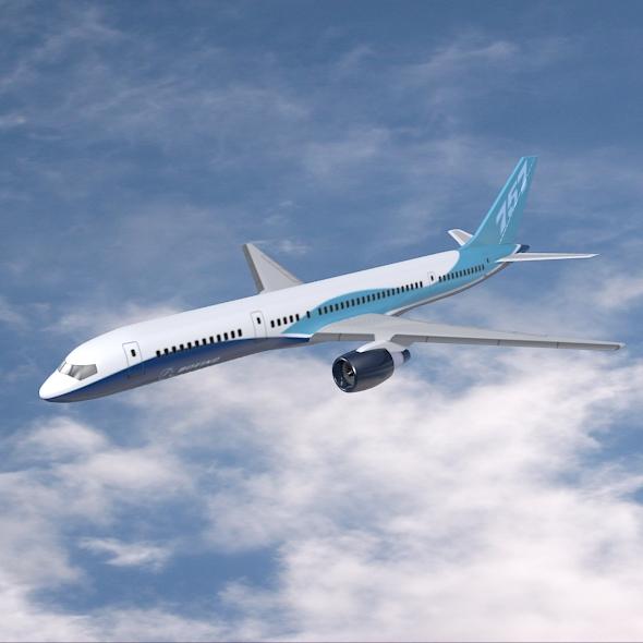 boeing 757-200 commercial airliner 3d model 3ds fbx blend  obj 157202