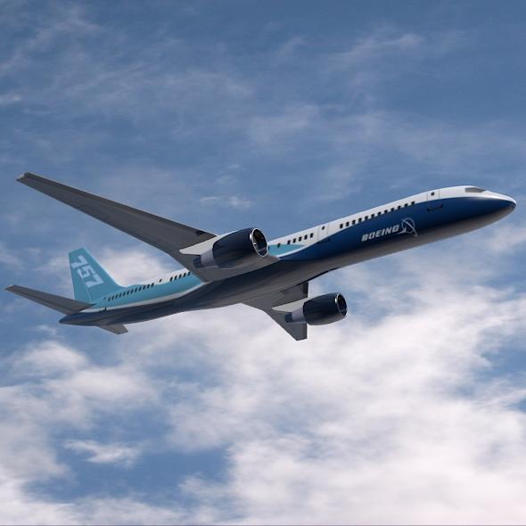 757-200 komerciālais lidmašīna 3d 3ds fbx blend obj 157203