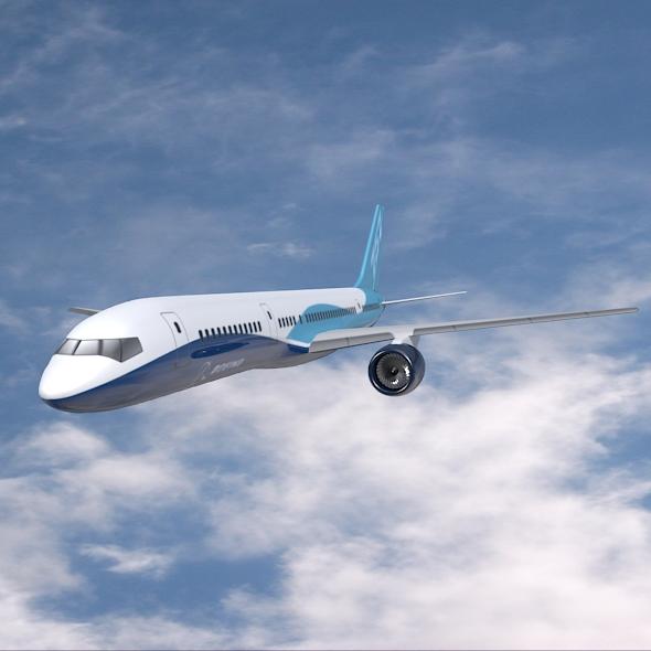 757-200 komerciālais lidmašīna 3d 3ds fbx blend obj 157204