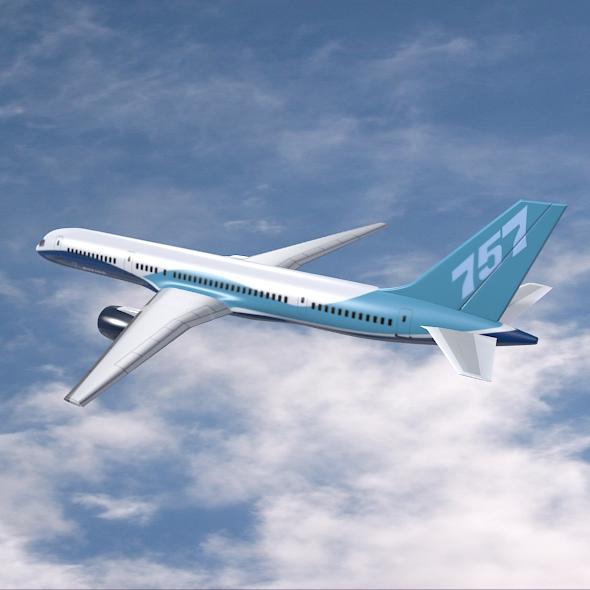 757-200 komerciālais lidmašīna 3d 3ds fbx blend obj 157205