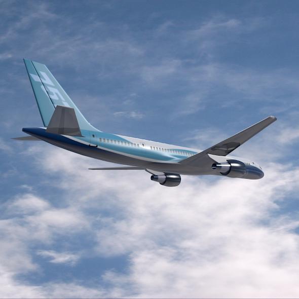 757-200 komerciālais lidmašīna 3d 3ds fbx blend obj 157206