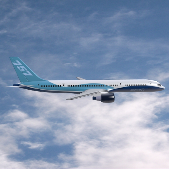 757-200 komerciālais lidmašīna 3d 3ds fbx blend obj 157207