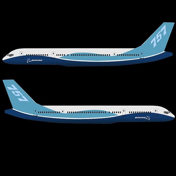 757-200 komerciālais lidmašīna 3d 3ds fbx blend obj 157208