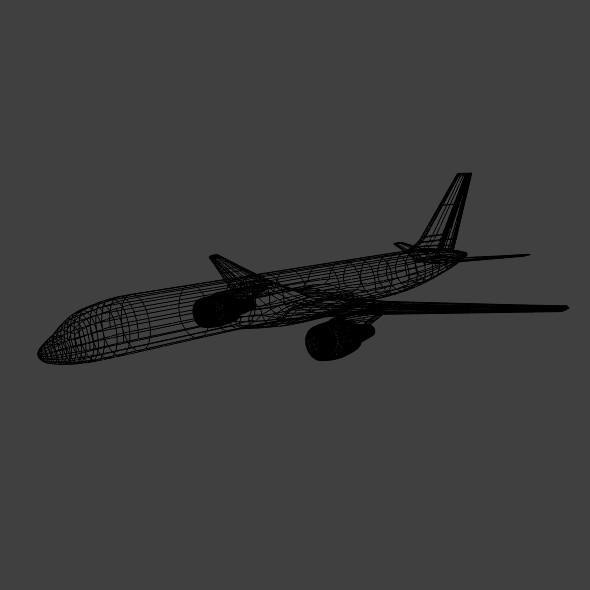 757-200 komerciālais lidmašīna 3d 3ds fbx blend obj 157209