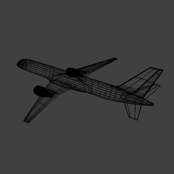 757-200 komerciālais lidmašīna 3d 3ds fbx blend obj 157210