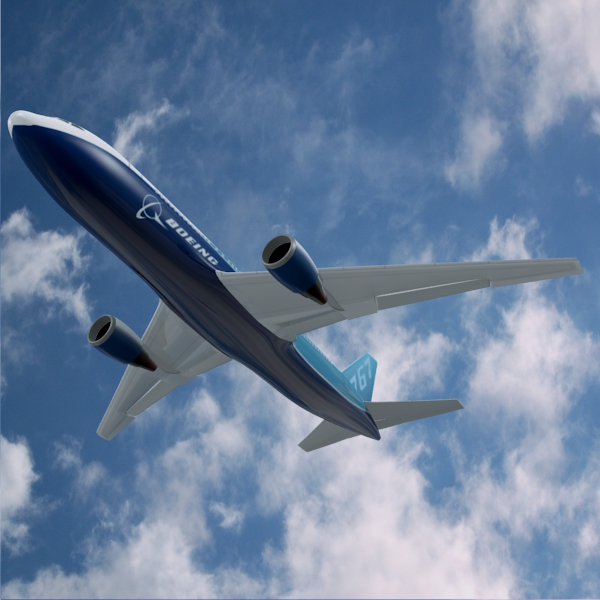 boeing 767-200 commercial airplane 3d model 3ds fbx blend lwo  obj 138407