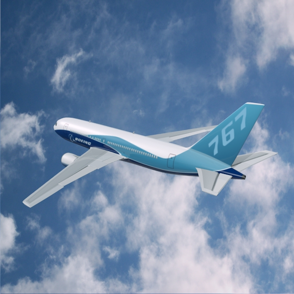 boeing 767-200 commercial airplane 3d model 3ds fbx blend lwo  obj 138408