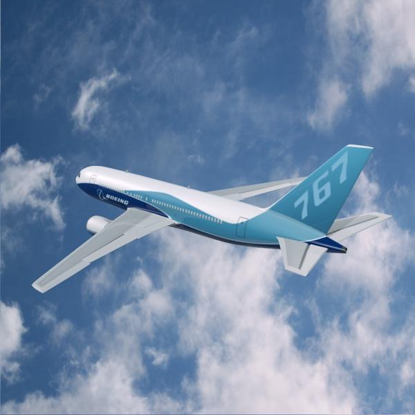 boeing 767-200 арилжааны онгоц 3d загвар 3ds fbx холих obw 138408