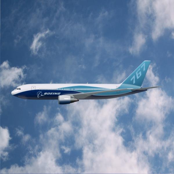 boeing 767-200 арилжааны онгоц 3d загвар 3ds fbx холих obw 138409