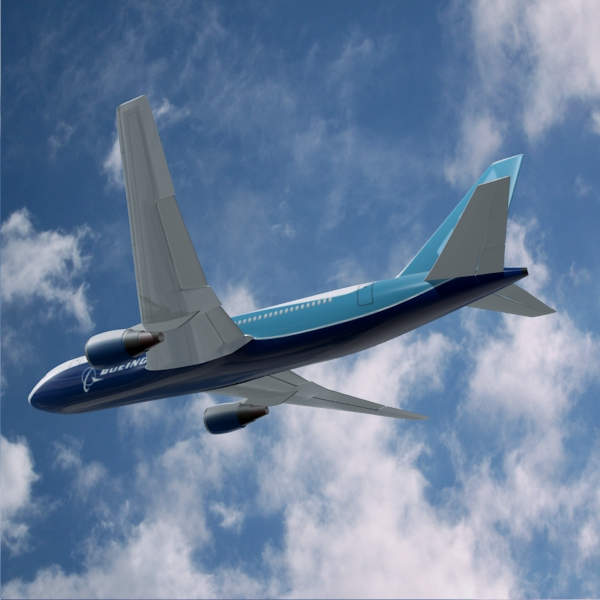 boeing 767-200 commercial airplane 3d model 3ds fbx blend lwo  obj 138411