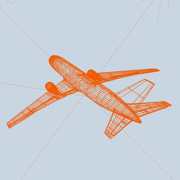 boeing 767-200 арилжааны онгоц 3d загвар 3ds fbx холих obw 138412