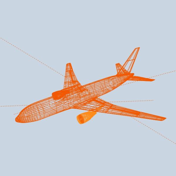 boeing 767-200 арилжааны онгоц 3d загвар 3ds fbx холих obw 138413